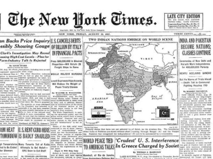 15 August 1947 The New York Times