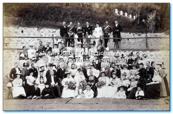 1900 Wedding party early