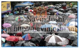 Nanda Devi Mahotsav During Heavy Rains