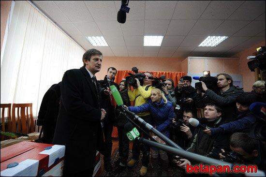 Jaroslaw Romantschuk nach der Stimmabgabe