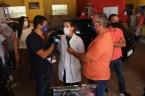 Prefeita Rhaiza Matos, vereadores Ricck e Regivan, e gerentes municipais participaram da vacinação de policiais civis, militares e bombeiros de Naviraí (13)