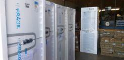 Refrigeradores, máquinas de lavar e outros materiais adquiridos pela Gerência de Educação para as escolas municipais (1)