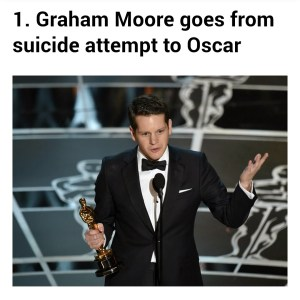 Graham Moore from suicide attempt to Oscar