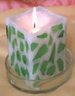 Оригінальна  свічка зроблена власноруч