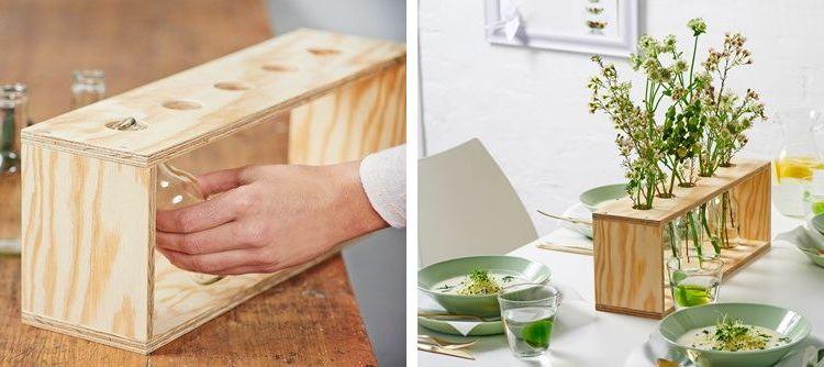 Деревянная подставка под цветы: оригинальное украшение стола. Сделай сам
