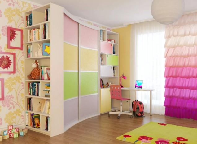 шкаф купе в детской комнате фото
