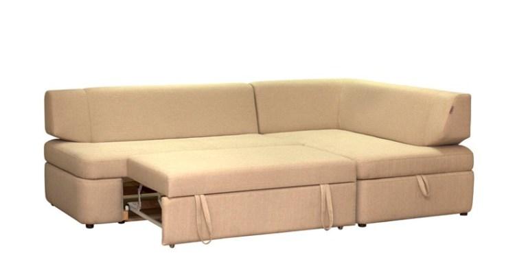 мягкий угловой диван Сидней в разложенном виде