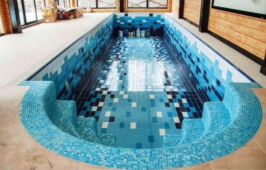 отделка бассейна из бетона