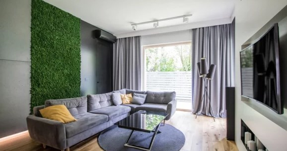 Зеленые стены из мха — новый тренд в дизайне интерьера