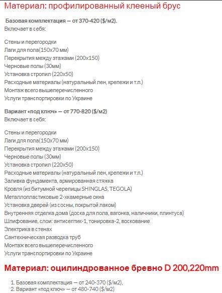 цена на строительство дома украина