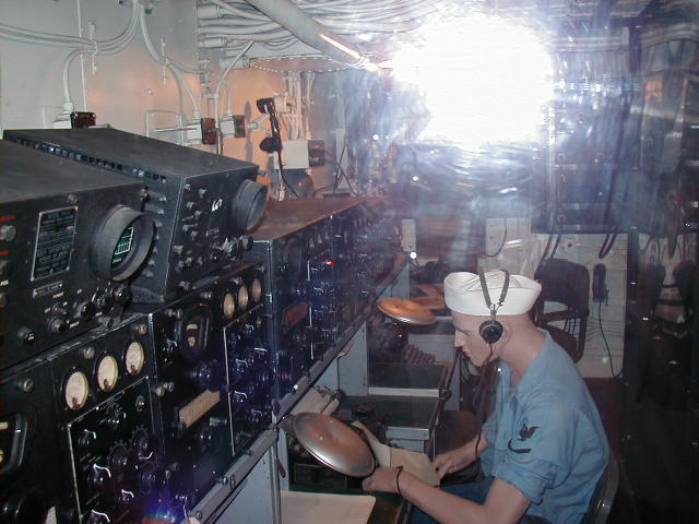 USS Massachusetts BB59 Radio Room Photos