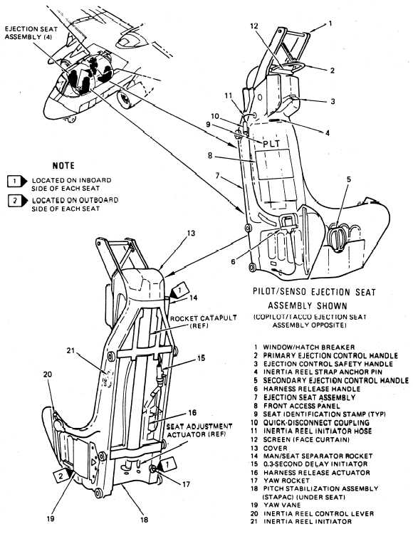 Ejection seat assembly