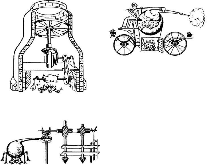 Figure 1-2.--da Vinci's chimney jack.