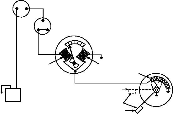 Figure 6-75.--Coil operated fuel gauge circuit.