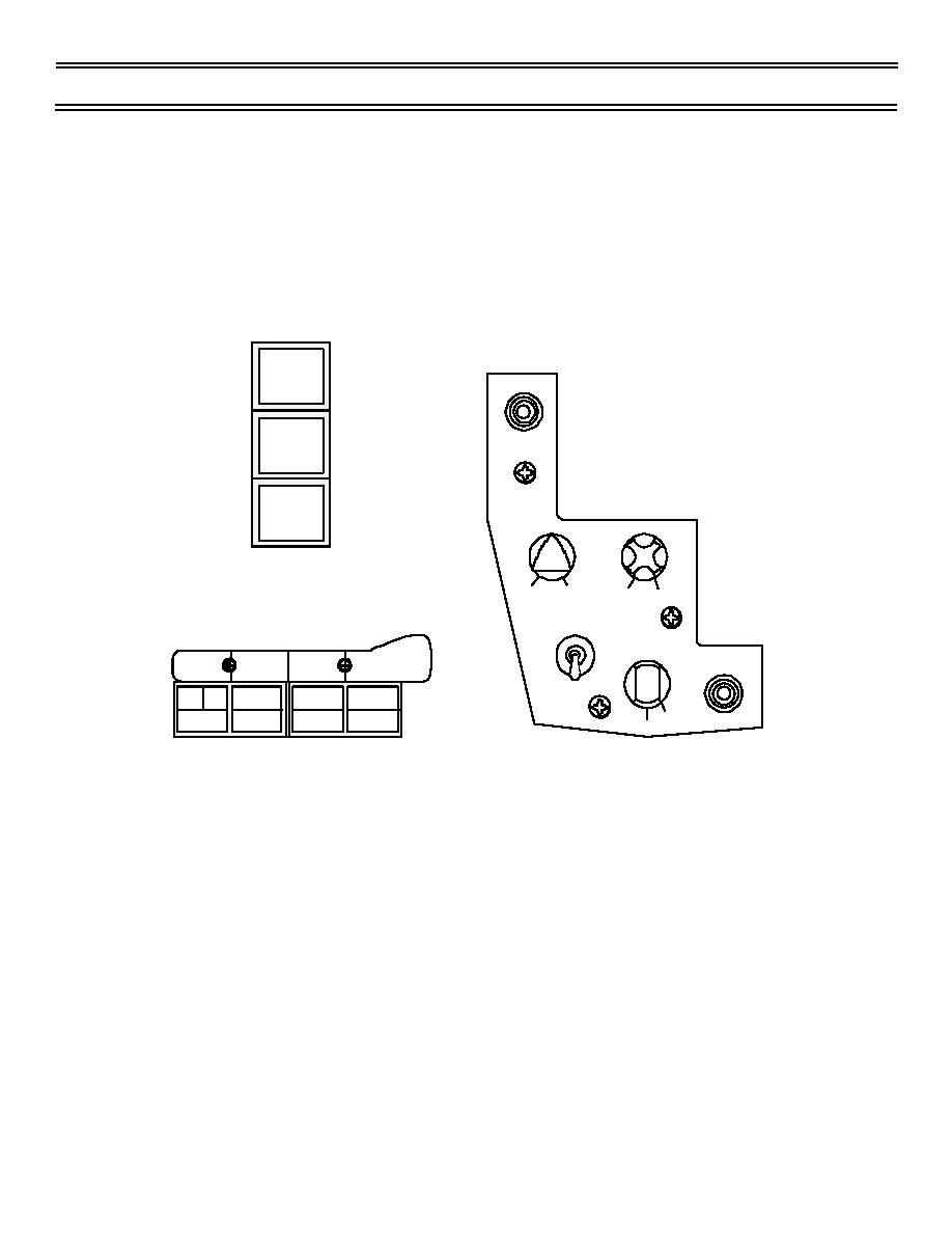 Figure 7. Marker Beacon Test and Illumination Controls