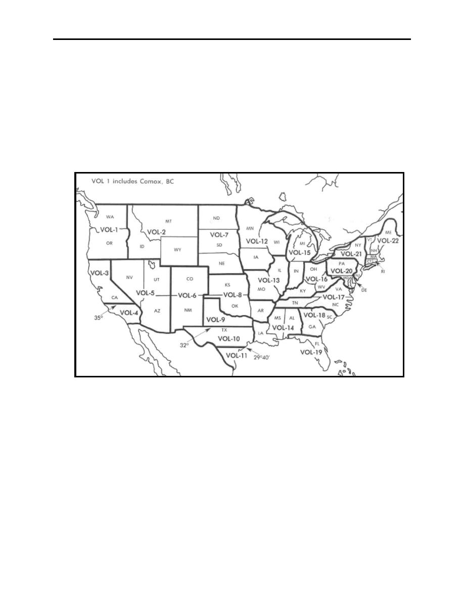 Figure 7-8 United States Divided Geographically into Volumes