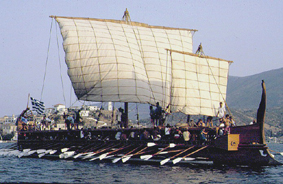 Image result for greek trireme battle of salamis