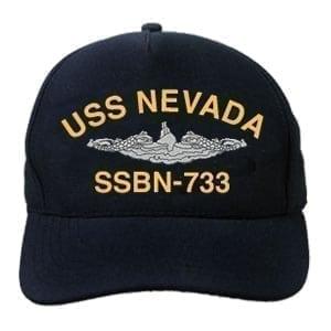 SSBN 733 USS Nevada Embroidered Hat
