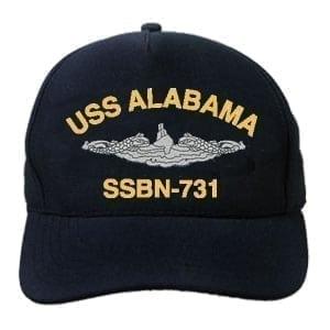 SSBN 731 USS Alabama Embroidered Hat
