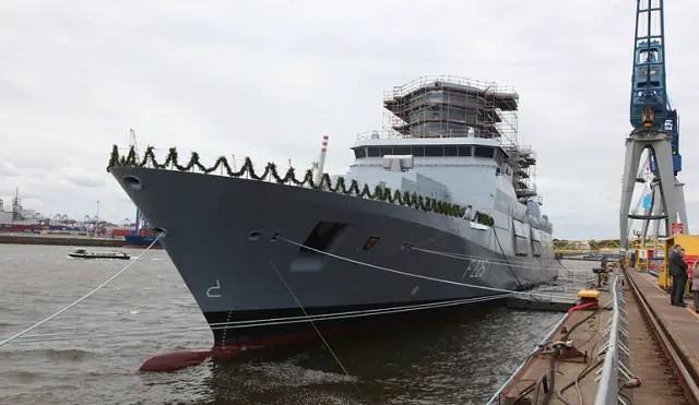 Fourth & Final German Navy F125-class Frigate Rheinland-Pfalz Christened in Hamburg