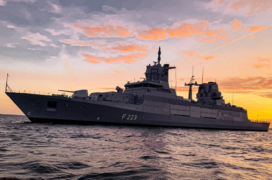 German Navy Commissions Its Second F125 Baden-Württemberg-Class Modern Frigate