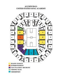Pdf alumni hall seating chart also basketball  wrestling naval academy athletics rh navysports