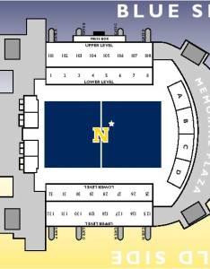 Nmc memorial stadium seating chart also navy marine corps football lacrosse naval rh navysports