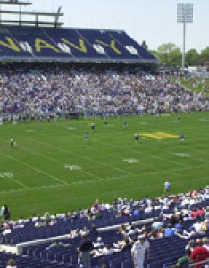 Navy marine corps memorial stadium was initially renovated with the first of three phases over  four year time period and transformed into also football lacrosse naval rh navysports