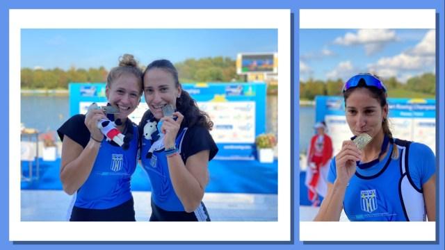 """Με 2 χάλκινα μετάλλια από τα """"χρυσά"""" κορίτσια του Ν.Ο.Θ επιστρέφει από το Πόζναν η εθνική ομάδα κωπηλασίας"""