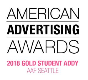 ADDY Gold Student Award Seattle 2018
