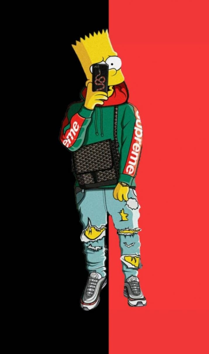 Bart Simpson Gangster Wallpaper : simpson, gangster, wallpaper, Simpson, Wallpaper, NawPic