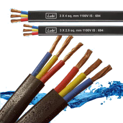 Lubi-three-core-flat-cables