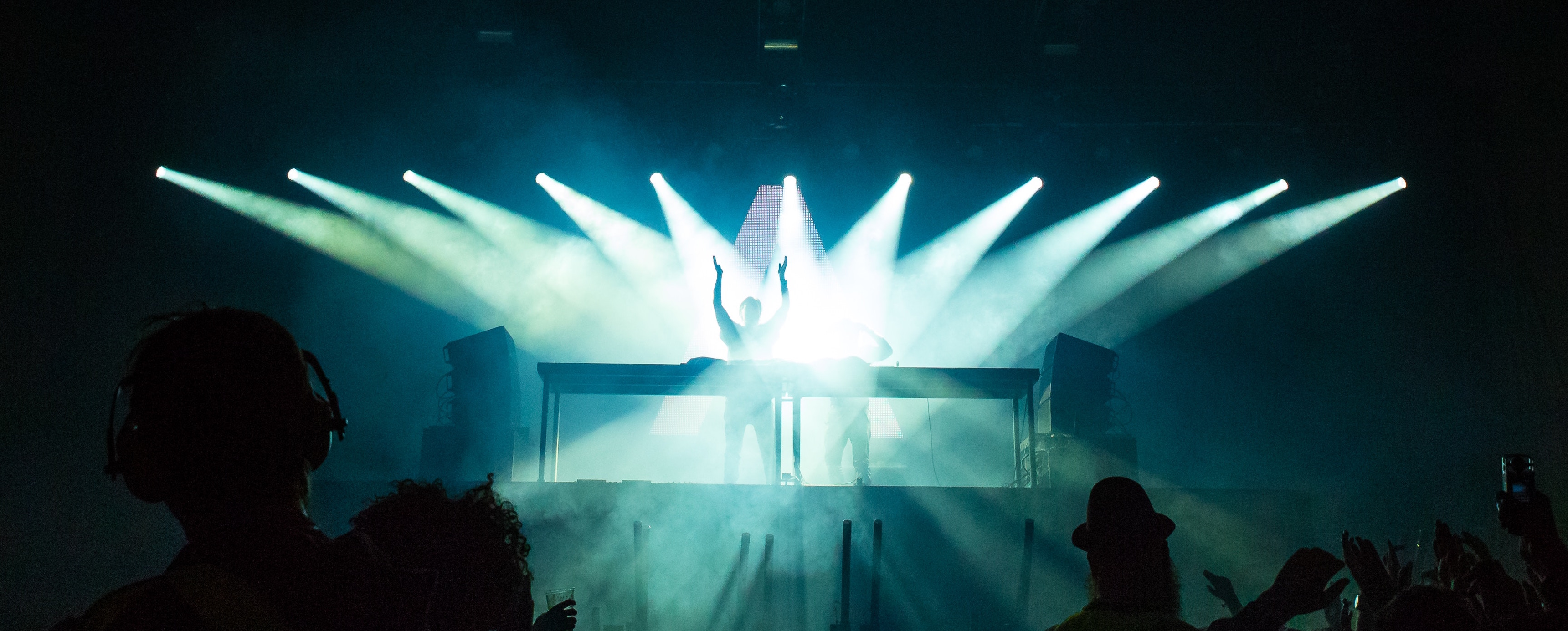 stage and bright lights