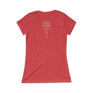 back of shirt says, Nayeli Clothing loves you back.