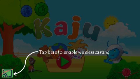 Kaju kids game chromecast feature