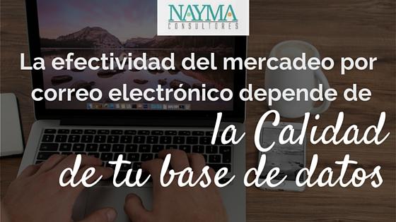 correo electronico base de datos