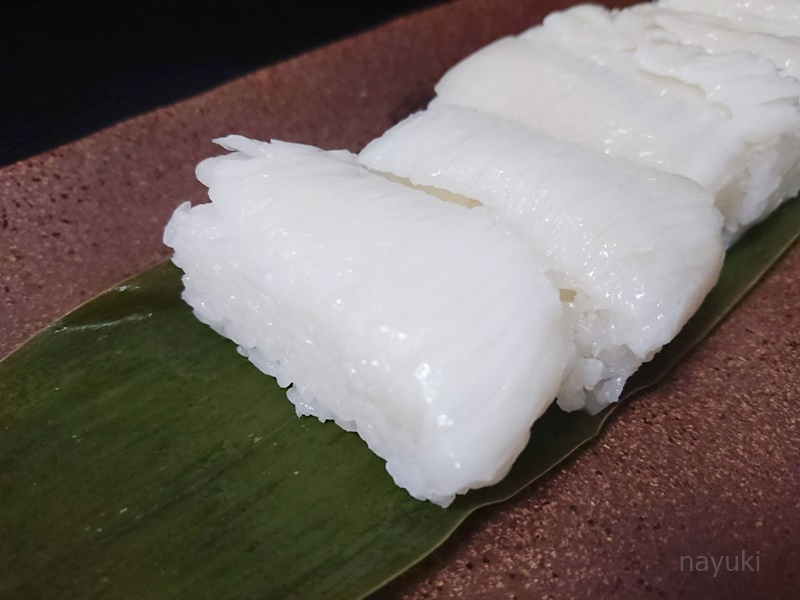 えんがわ押し寿司-中身の写真