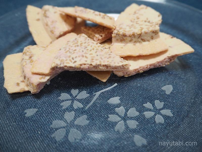 割りしみチョコせんべいいちご味の写真