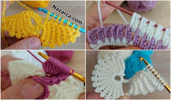 4 TANE EN SÜPER TUNUS ÖRGÜLER/4 Tunisian Crochet