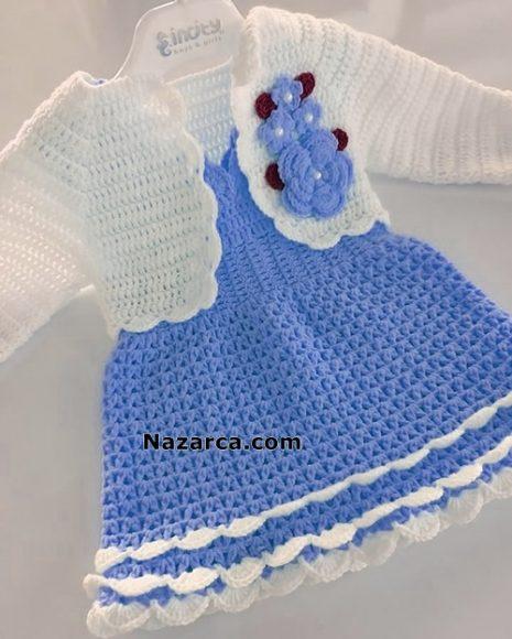 mavi-elbiseli-beyaz-bebek-bolero-yelek