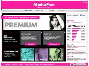 Sitioweb de MediaFem