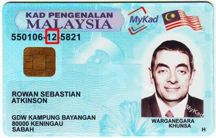 Kod negeri kelahiran di Malaysia