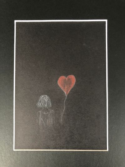 Love Heart 7 by Roza Nazipova in collaboration with Angelica Petherick 23x32cm £80 Pencil on Paper