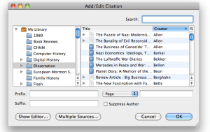 Zotero Adding a Citation