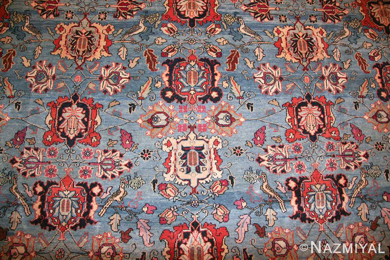 Light Blue Antique Persian Tabriz Oriental Rug 48820
