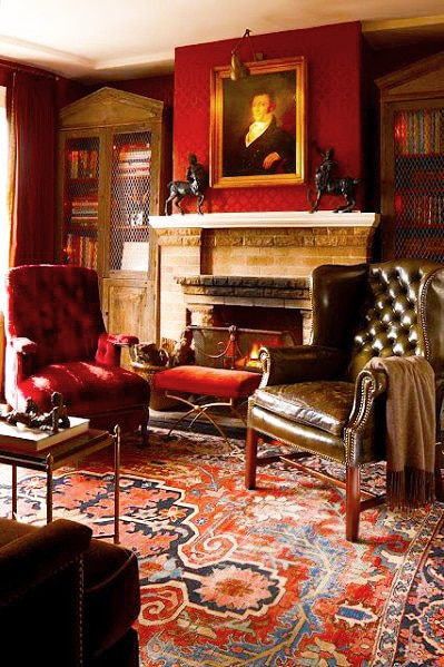 modern living room with persian rug decor ideas black leather furniture decorating antique rugs oriental interior home luxurious library design shabby chic