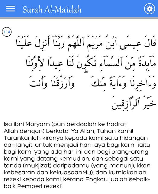 Surat Al Maidah Ayat 114 : surat, maidah, Amalkan, Surah, Al-Ma'idah,, Untuk, Dapatkan, Rezeki, Tidak, Putus-Putus, NAZRICH, Wealth, Consult