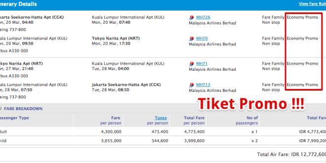 Cara Mendapatkan Tiket Pesawat Murah Online Jakarta Tokyo Hanya 4