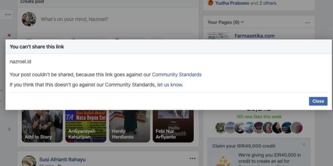 Situs Ini Bisa di Lockdown Facebook, Tolong Bantu Ya!