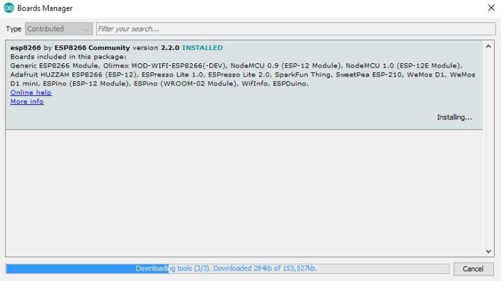 Download Boards ESP8266